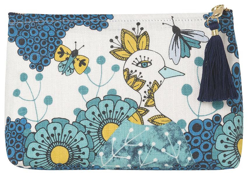Birdland Cosmetic Bag - Small | Mama Bath + Body