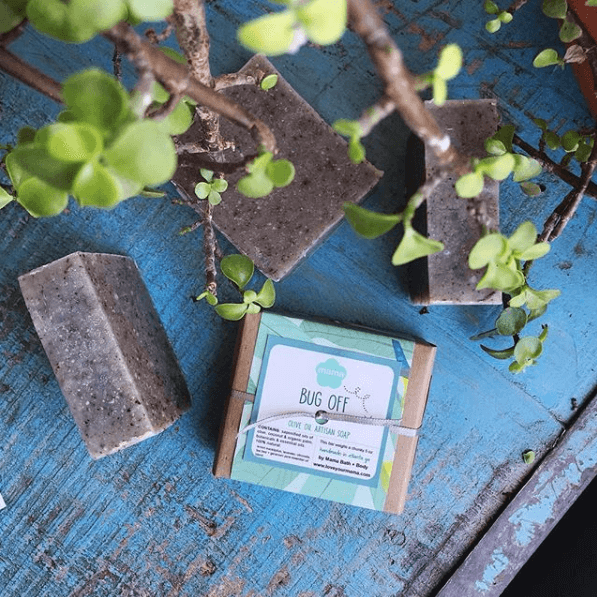 Bug Off Soap (Gift Wrapped) - July Soap of the Month    Mama Bath + Body