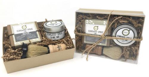 Daddy-O Cedarwood + Spruce Shave Kit | Mama Bath + Body