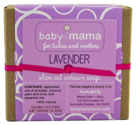 BabyMama Lavender Soap - Gift Wrapped | Mama Bath + Body