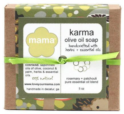 Karma Soap (Patchouli + Rosemary) - Gift Wrapped   Mama Bath + Body
