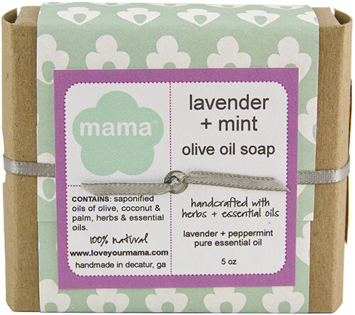 Lavender + Mint Soap - Gift Wrapped   Mama Bath + Body