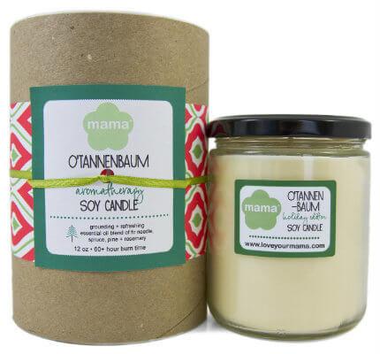 O'Tannenbaum Soy Candle - Glass Jar   Mama Bath + Body