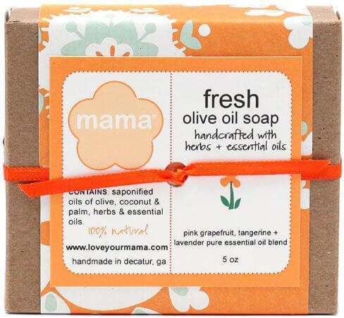 Fresh (Grapefruit, Tangerine + Lavender) Soap - Gift Wrapped   Mama Bath + Body