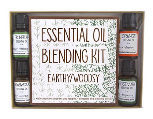 Essential Oil Blending Kit - Earthy/Woodsy | Mama Bath + Body