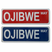 Ojibwe Way Street Sign