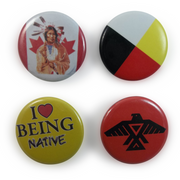 Native Buttons Set Of 4