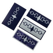 Iroquois Flag Iron-On-Purple Wampum Belt Appliqué