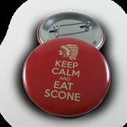 Keep Calm Eat Scone Button