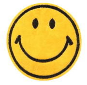 Smiley Face  Embroidered Iron On Sew On Patch