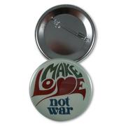 Make love not war Button/Magnet/Pocket Mirror