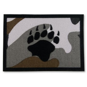 Camo Bear Paw Iron-On Patch - Camouflage Bear Claw Applique Patch
