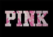 Custom Pink camouflage Iron-On Name