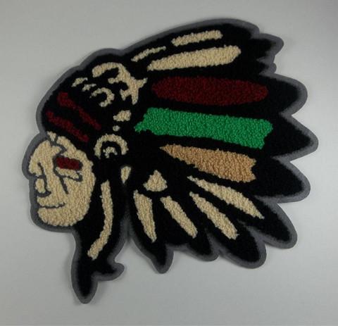 Chief Head Patch,Multi Color