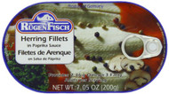 Rügenfisch Herring Fillets in paprika sauce tin 200g - 7.05 oz
