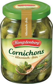 Hengstenberg Cornichons Jar - 190 ml - 12.5 fl Oz