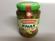 Hengstenberg Knax Scharf würzige Gurken - Hot & Spicy with Chilli Gherkins  - 720 ml - 24.3 fl Oz