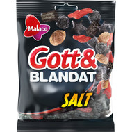 Malaco Gott & Blandat Salt Mixture of soft salted liquorice and jelly  Bag of 500g - 17.64Oz