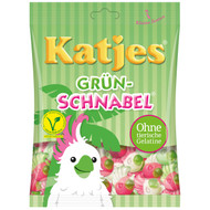 Katjes Grün-Schnabel - Green beak - Veggie soft candy - Bag of 200 Gram / 7 Oz