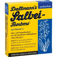 Dallmann's Salbei sugar-free throat and cough bonbon with sage extract and vitamin C.  20 pcs