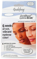 Godefroy Instant Eyebrow Tint Permanent Color Kit - Medium Brown