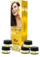 Richfeel Gold Facial Kit (Cleanser, Scrub, Gel, Cream, Pack)
