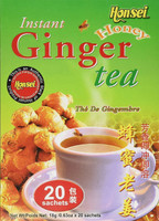 Honsei Instant Ginger Honey Tea 20 Sachets 18g