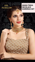 Indian Necklace Sets With Earrings Mang tikka