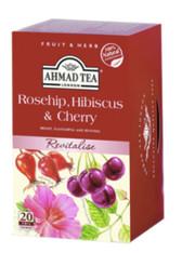 33242AHMAD TEA ROSEHIP&CHERRYAHMAD #003 6/20 CT FOIL BAGS