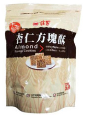 45967	ALMOND SQUARE COOKIE	CHUANG JIA 12/160G