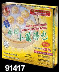 91417	COOKED PORK MINI BUNS	FORTUNE AVE 12/7 OZ