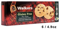43306 GLUTEN FREE SHORTBREAD CHOCOLATE CHIP WALKERS 6/4.9OZ