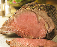 "Certified Hereford USDA Choice 4-Bone ""Prime Rib"" (Large End Bone-in Ribeye) Roast"