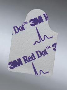 3M 2360 EKG Tab Electrode 3M™ Red Dot™ Resting Radiolucent 100 per Bag.  Case/4000