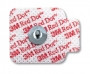 3M 2660-5 Red Dot Repositionable Monitoring Electrode 4cm x 3,2cm, Case of 1000e/a.