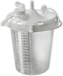 20-08-0004 Disposable Suction Canister 1500ML with Diss Connector, Case of 48