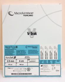 100254HS3D-V Microvention Microplex 10 Platinum coil system, Hypersoft 3D 2.5mm x 4cm