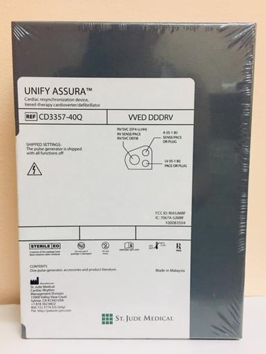 CD3357-40Q Bi-ventricular ICD Unify Assura Next Generation CRT-D 40 DF4 Connector