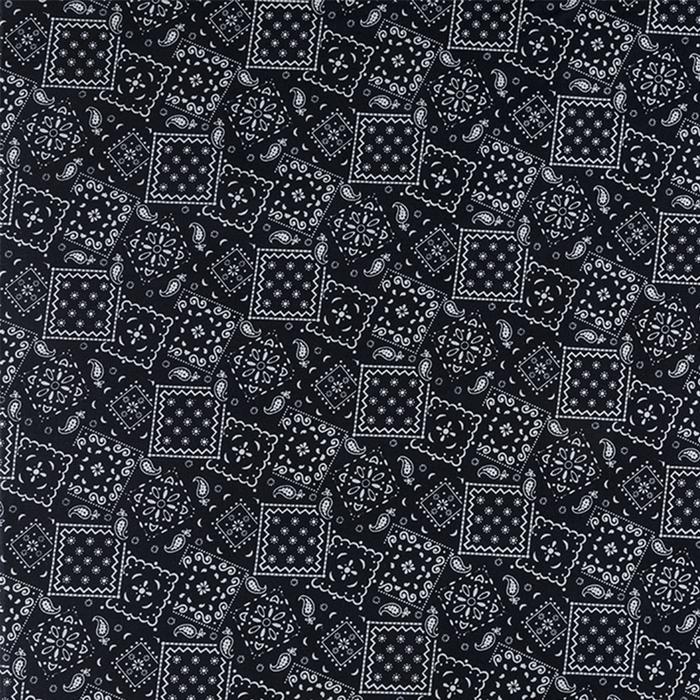 Black Bandanna Squares