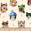 Beach Cats- Fabric for special needs bibs