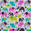 Colorful Elephants- Fabric for special needs bibs