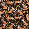 Foxes on Black- Fabric for special needs bibs