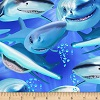Happy Sharks- Fabric for special needs bibs