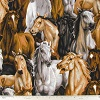 Horses- Fabric for special needs bibs