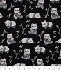 Pandas on Black- Fabric for special needs bibs