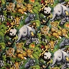 Safari Animals- Fabric for special needs bibs