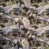 Wolves on Gray- Fabric for special needs bibs