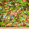 Woodland Friends- Fabric for special needs bibs