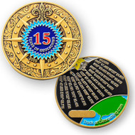 15 Years of Geocaching Geocoin