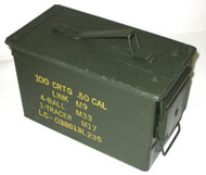 50 Cal Military Ammo Tin - Authentic